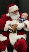 Raleigh Gholson with Santa