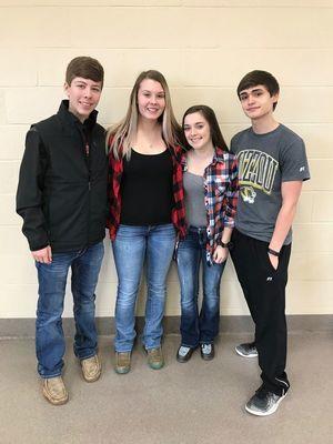 Juniors (from left to right) Joe O Bannon, Rylee Thomas, Abbie Thomas, Christian Colston Photo courtesy of Madison C-3