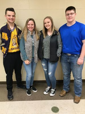 Sophomores (from left to right) Tyler Buck, Miranda Breid, Josie Rentschler, Dalton Graham. Photo courtesy of Madison C-3