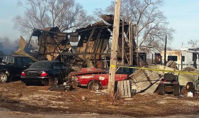 Aftermath of Holliday Fire. Photo by Janice Carman