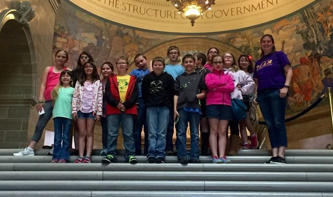 4th Grade at Madison visits Capital