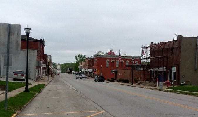 Main Street looking North Then and Now
