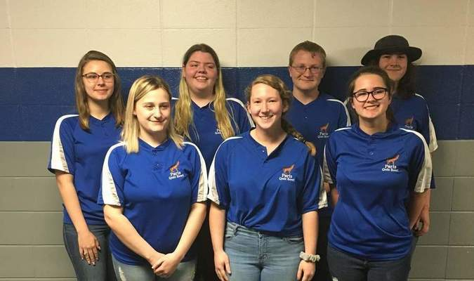 Danielle Anderson, Emily Havens, Abigail Hendren, Eli Jordan, Justin Madison, Molly McGee, and Kelsey Wilson. The team is coached by Anne Fodge, Suzy Otto, and Sara Watson.