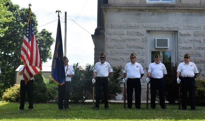 American Legion presented colors at this year's Flag Day ceremony