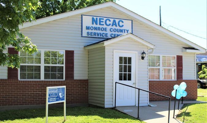 Monroe County NECAC Service Office located at 314 North Washington Street in Paris. Photo taken by Robin Gregg during Open House held May 15, 2019.