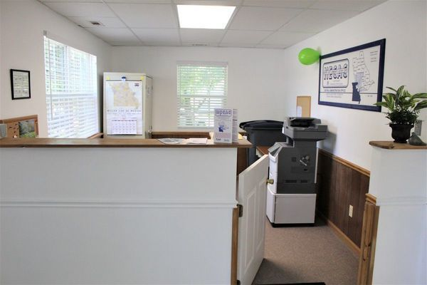 Monroe County NECAC Service Office front desk area. Photo taken by Robin Gregg during Open House held May 15, 2019.
