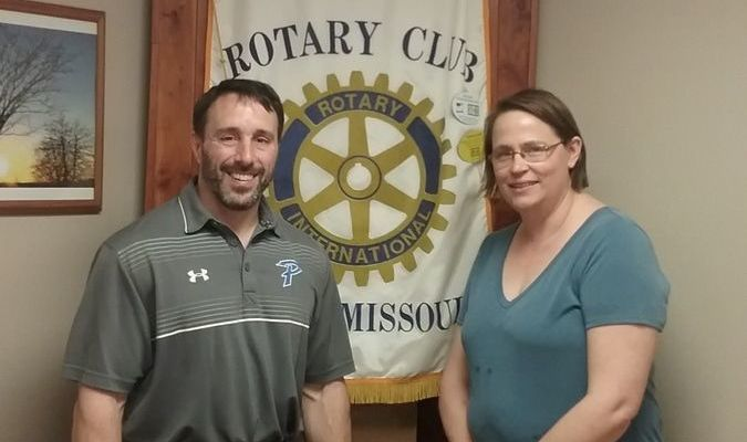 Pictured with Ms. Otto is Paris Rotary Club President and School Superintendent, Aaron Vitt.