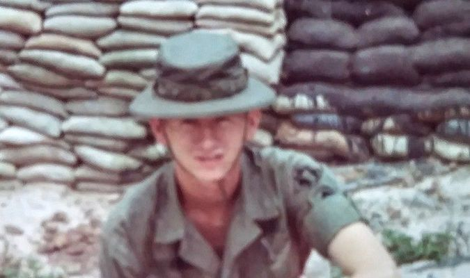 Pat Kelly while serving in Vietnam War