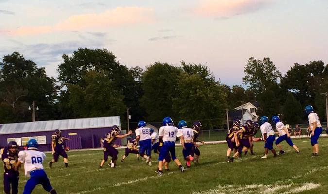 Paris Junior High squares off with Salisbury. Thanks to Suzy Forrest for the photo.