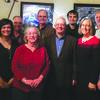 Front, from left: Hilary Crum, Martha Conley, Richard Webber, Nancy Riechmann and Roger Shatzer; Back, from left: Ed Bordeleau, Adam Turner, Ed Putnam, Neal Crain, Matt Spiers, Robert Hatton and Brian Vaughn