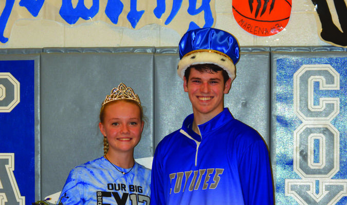 Betsy Embree, left, and Brant Ensor were crowned King and Queen of 2017 Paris Courtwarming