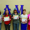 Madison School 7-12 Students of the Month. From left to right is Judy Hornbarger (11th), Alexis Wolfe (9th), Madison Thomas (10th), Joe O'Bannon (8th), Connor O'Bannon (7th) and Austin Thornton (12th), not pictured.