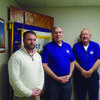 Gary Yaeger (center) and John Kendrick (right), newly-elected President and Vice President of Monroe County Cancer Supporters, presented to the Paris Rotary Club on Thursday, February 2.  The history of the cancer supporters was shared, along with the news that the group has raised and donated $322,500 to 321 patients since organizing in 2009.  The 7th Annual Blow Away Cancer Banquet will be held on Saturday, March 4, at the Monroe City High School gym.  Seating will be available for over 600 attendees.   Mr. Yaeger and Mr. Kendrick were guests of Paris Rotarian Jason Dodge (left).