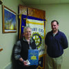 Marguerite Jones, President of the Monroe County Historical Society with Rotarian Jason Fleenor.