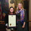 Monroe County 4-H member Ashlyn Peterson, left, recently attended the University of Missouri Extension 4-H Legislative Academy. She job-shadowed Sen. Jeanie Riddle, right, and Rep. Jim Hansen.