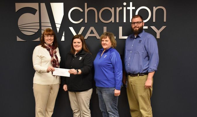 Cheri Coin of the Food Bank for Central and Northeast Missouri, Stephanie Chrisman, Da'Nee Leamons, and Dustin Bachtel of Chariton Valley.