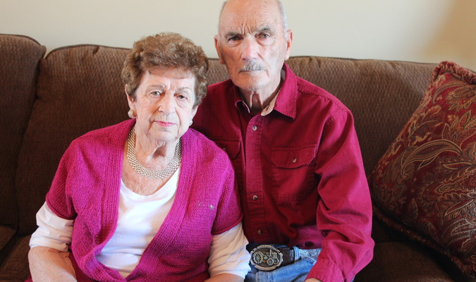 Betty and Bob Pinkerman have been happily married since 1945