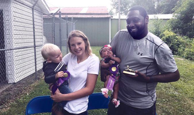 Grand Champion Boy and Girl for baby show: Jaxon Klamert, son of Sheyenne Klamert and Brandon Ruggles and Rozlynn Hicks, daughter of Demetre and Devin Hicks.