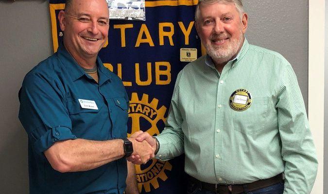 (left) ShelterBox Ambassador Scott Weaver (right) Jim Simon Rotary Club President