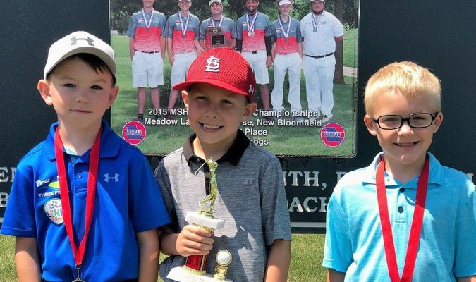 BOYS AGES 6 - 8 WINNERS - Left to right - 2nd Place Briar McGee; 1st Place - Duke Corrick; and 3rd Place - Jagger Jackson