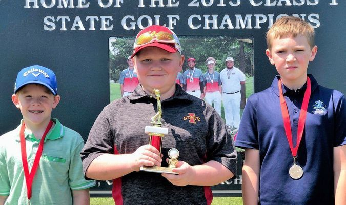 BOYS AGES 9 - 11 WINNERS - Left to right - 2nd Place - Jett Jackson; 1st Place - Caden Veatch; and 3rd Place - Collin Oliver.