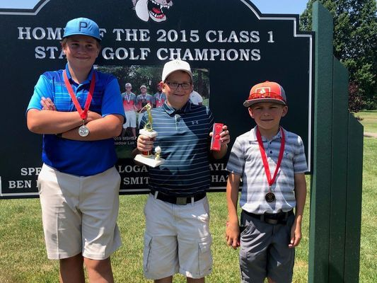 BOYS AGES 12-14 WINNERS - Left to right - 2nd Place - Quinn Miller; 1st Place - Hunter Combs; and 3rd Place - Austin Springer.