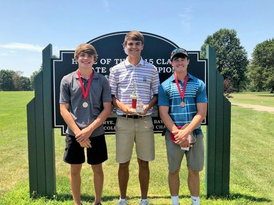 BOYS AGES 15 - 18 WINNERS - Left to right - 2nd Place - Konner Heitmeyer; 1st Place - Chris Ebbesmeyer; and 3rd Place -Adam Forrest