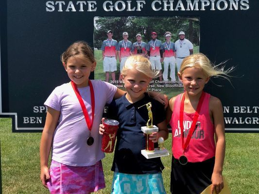 GIRLS AGES 6 - 8 WINNERS - Left to right - 2nd Place - Josie Ebeling; 1st Place - Jamisyn Springer; and 3rd Place - Kail Wood.