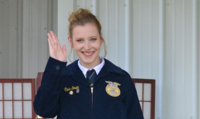 16-year-old Kyla Smith who attends school in Salisbury chose her formal  FFA outfit.