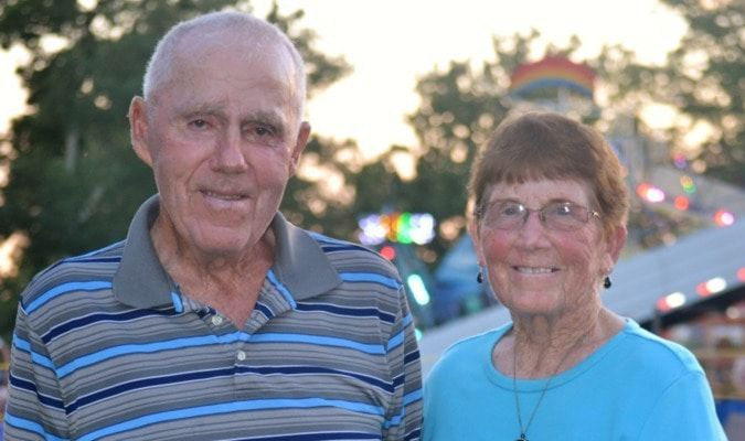 Dan and Carla McVicker of Bevier were honored as the longest-married couple. On September 26th this year, they will celebrate 65 years together. A great accomplishment. A great reward.