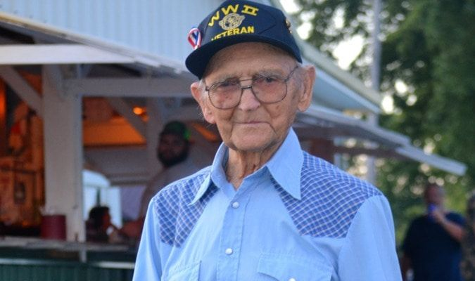Walter Gladbach of LaPlata was honored as the oldest living veteran in attendance. He turned 96 this past March. Walter served in the United States Marine Corp. Thank you, Walter.