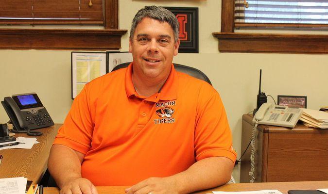Mr. Bruce Weimer. Macon R-I Middle School Principal.