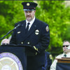 Harry Ward speaking at the 2011 Oregon Fallen Firefighters Memorial at Department of Public Safety and Standards (DPSST) Academy in Salem, OR. Photo submitted by Sean Hartley