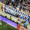 A banner behind the south goal in Sporting Park promotes Many Countries, One Club in reference to the diversity of the players on the team. Regardless of the nationalities, the players come together to play as one team. (Photo/Taylor Lay).
