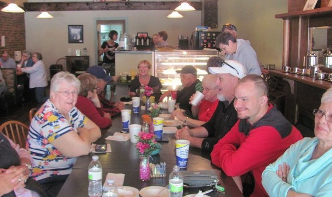 Soup  luncheons  at  The  Sante  Fe  Espresso  held  by  the Illinois Bend Church for their elevator fund, was a huge success. They want to express their deepest gratitude to the  community  and  out  of  towner's.  (Photo  by  Randy Bunch)