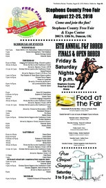 Stephens Co. Free Fair 2018 Pull-Out