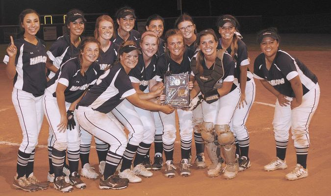 DISTRICT CHAMPIONS: The Marlow softball team swept Lindsay in the district tournament hosted by Marlow last Thursday. The Lady Outlaws advance to the regional tournament in Washington starting today (Thursday).