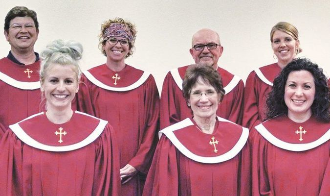 SUNDAY PRESENTATION: First United Methodist Church of Marlow will present its annual Christmas cantata this Sunday featuring: (front, from left) Megan Varnell, Juliet Colvin, Heather Holding, and D.B. Green; (back) Kyle Jones, Shawn Scott, Ron Hinkie, Melody Hansen, and Scott Vaughn.