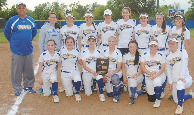 DISTRICT CHAMPS: The Central High slow-pitch softball team outscored opponents 34-0 on their way to the district tournament championship last Thursday.