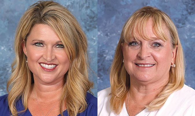 Aleta Wilson (left) and Terri Keck (right) are nominated for this year's Marlow Teacher of the Year award.