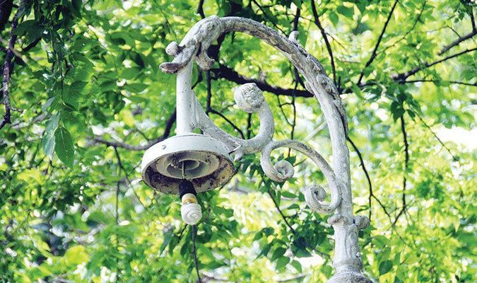 PARK VANDALIZED: Redbud Park was vandalized last week, including the removal of globes. Most were able to be reinstalled after being found, but two are needing being replaced.