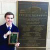 NATIONAL WINNER: Central High's Garrett Thornton after shows his first place national award his project won at the National FFA Convention in Indianapolis last week.