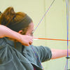 READY, AIM, FIRE: Aspen Cothern competes at the first archery meet of the season at Bray-Doyle last week.