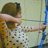 READY, AIM, FIRE: Jessica Cosper  competes at the first archery meet of the season at Bray-Doyle last week.