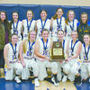 TOURNAMENT CHAMPS: The Central High girls won first place in the Minco Bulldog Classic Tournament. Pictured: (front row, from left) Faith Robbins, Kylee Sparks, Madison Kuntz, Marissa Gattenby, Erica Minden and Kelsi Clement; (second row) coach Chad Weldon, Lexi Jay, Megan Anderson, Charlcie Parker, Caitlyn Carl, Brea Edens, Leigha Harris, Destyne Robbins, Desiree Dobbs and Tatum Schultte.