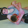 BACK POINTS: Marlow's Cody Davis has a firm grip on his opponent at the Marlow Jr. High Wrestling Tournament held Friday and Saturday.