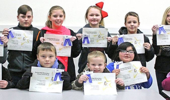 Central High School recognized its Citizens of the Month for December earlier this week.