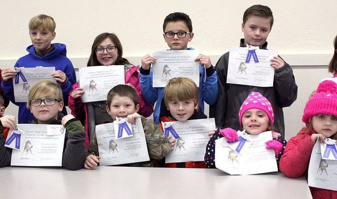 Central Elementary School students were recognized this week as Students of the Month for December.