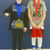 TOP FINISHERS: Jaxson Murray placed first and Tommy Miller took second at the annual national youth wrestling tournament hosted by Texas USA wrestling south region.