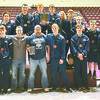 HUB CITY CHAMPIONS: The Marlow wrestling team celebrates their first-place finish at the Hub City tournament in Clinton last weekend. The Outlaws head to Dual State on Feb. 9-10.